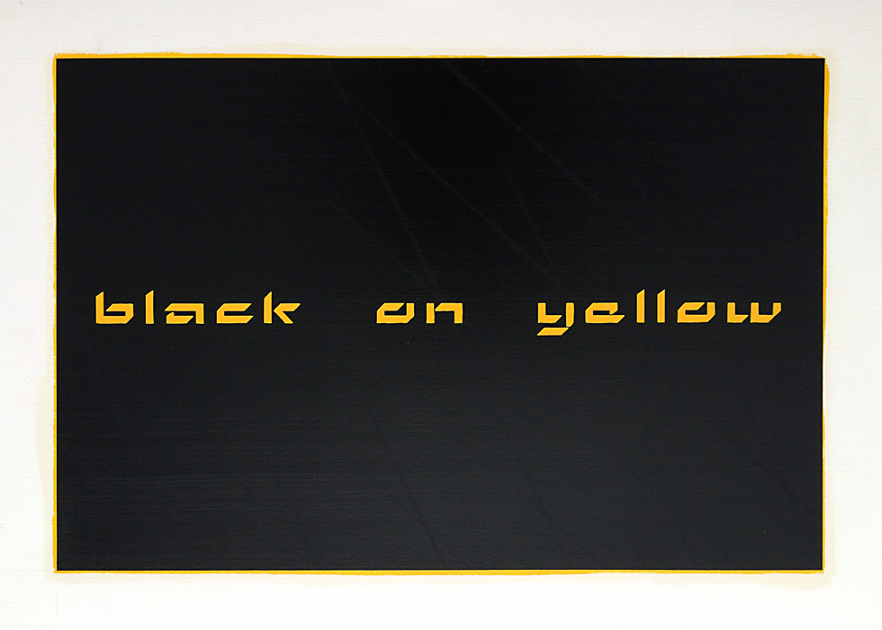 Black on Yellow, 2015