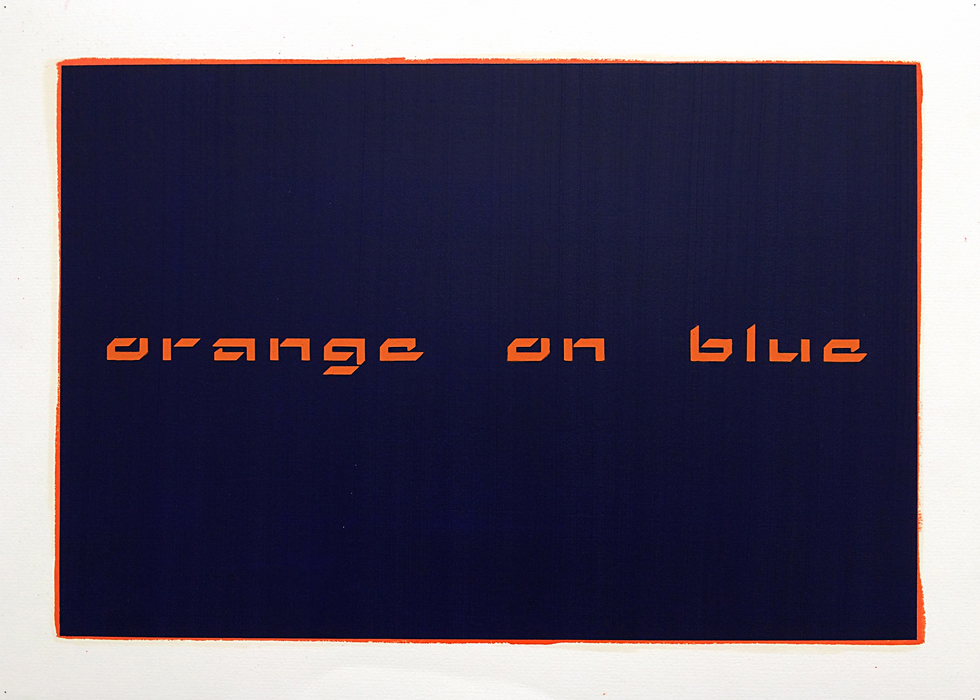 Orange on Blue, 2015